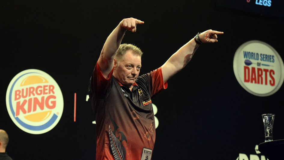 Mark McGrath celebrates his victory (Picture: Photosport NZ/PDC)