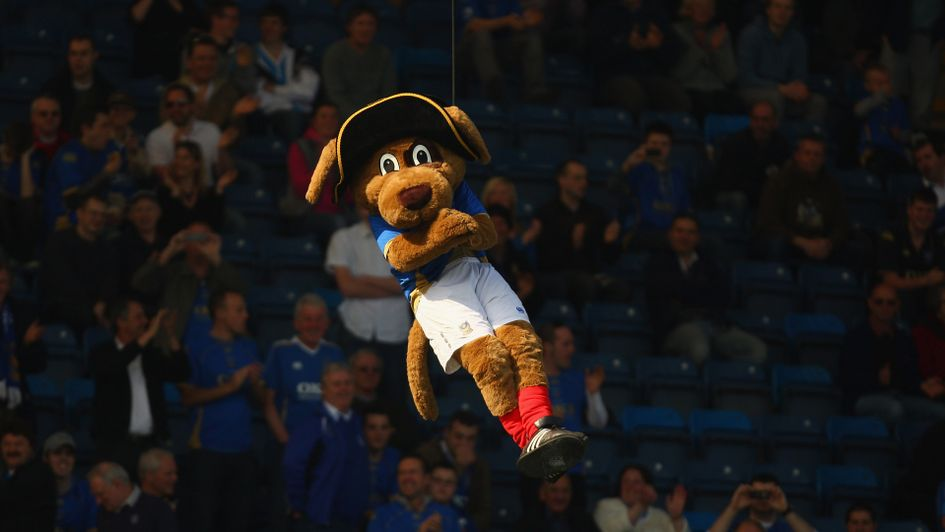 Portsmouth mascot Nelson the Dog