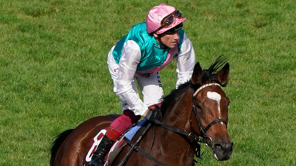 Frankie Dettori and Enable return after finishing second in the Arc
