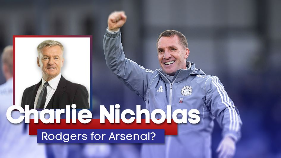 Charlie Nicholas has backed Brendan Rodgers to get the Arsenal job