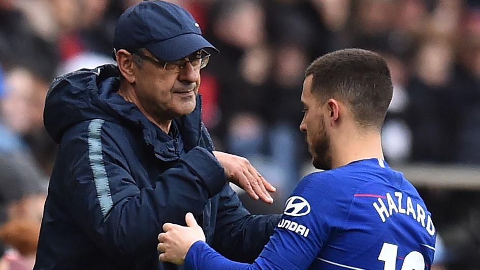6a5f5c2b9 Chelsea FC news  Eden Hazard praises Maurizio Sarri s philosophy ...