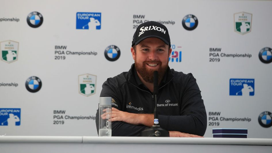 Shane Lowry speaks to the media at Wentworth