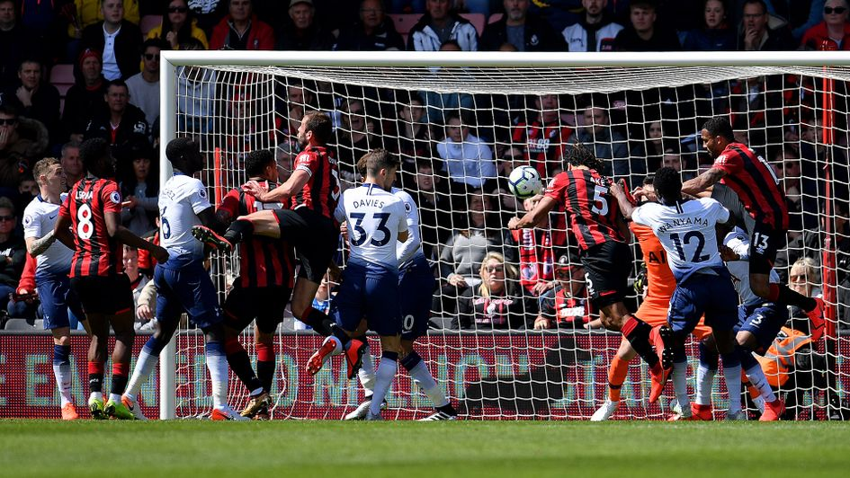 Nathan Ake scores for Bournemouth against Tottenham