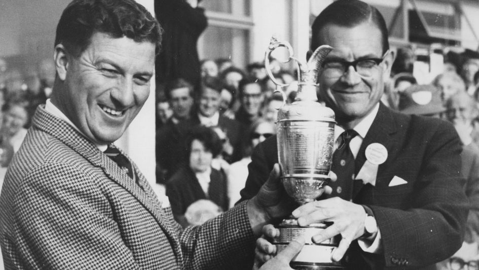 Peter Thomson after winning the Open for the fifth time in 1965