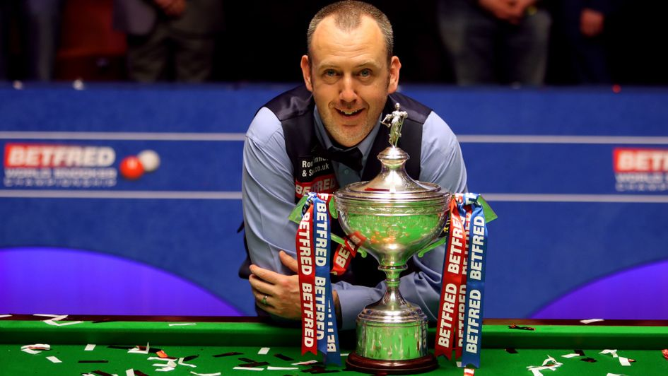 Mark Williams with his third world title
