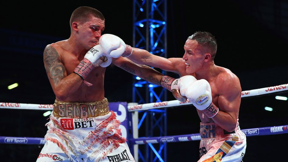 Lee Selby (left) and Josh Warrington (right) in action in Leeds