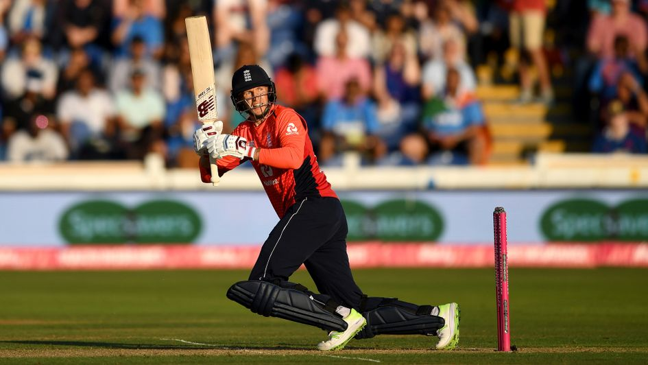 Joe Root bats during the 2nd Vitality International T20 match between England and India