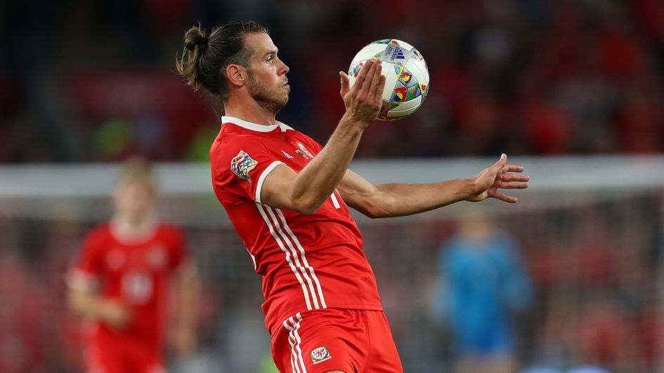 Gareth Bale in UEFA Nations League action