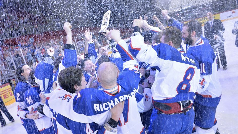 Great Britain celebrate after securing the gold against Hungary (photo credit: Dean Woolley)