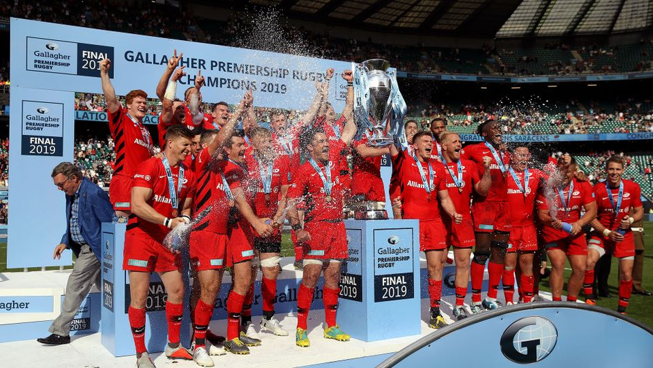 Saracens win the Gallagher Premiership title to complete the double