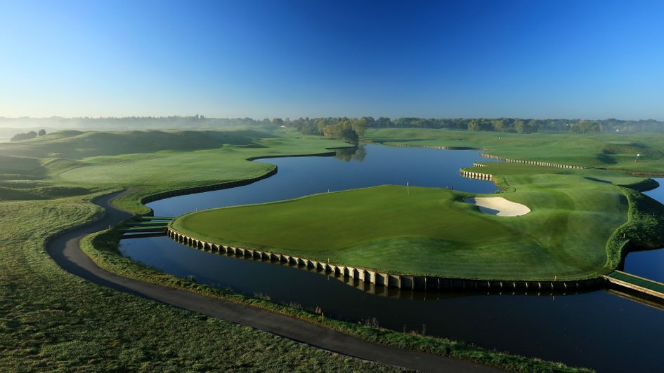 The 18th hole at Le Golf National