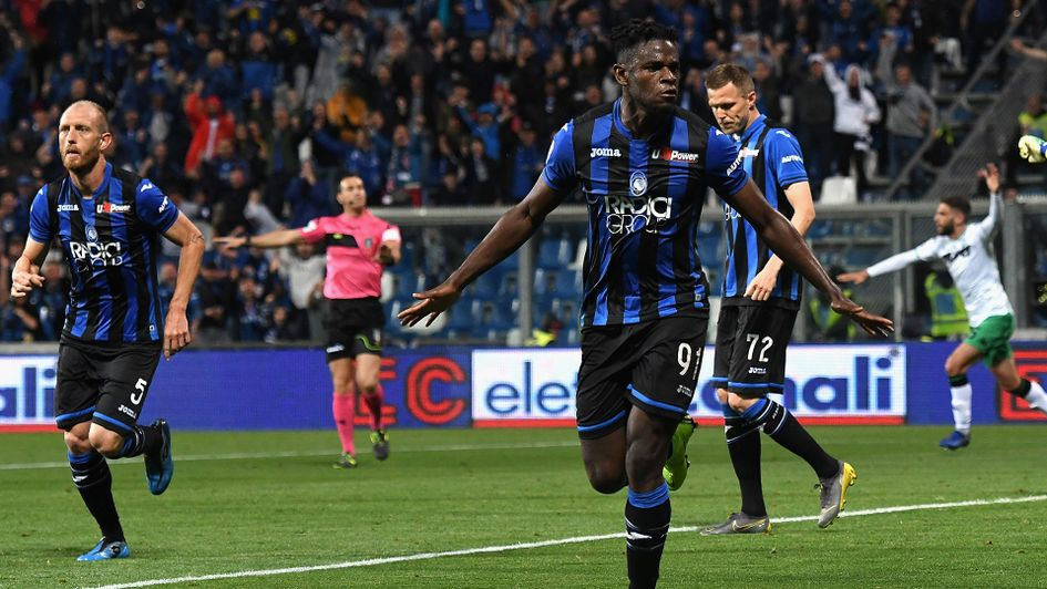 Duvan Zapata helped to fire Atalanta into the Champions League