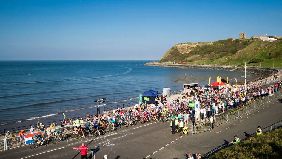 Scarborough seafront on Saturday of the Tour de Yorkshire