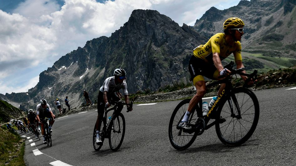 Geraint Thomas on the Tour de France mountains