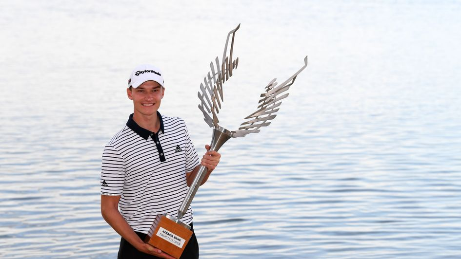 Hojgaard with his trophy