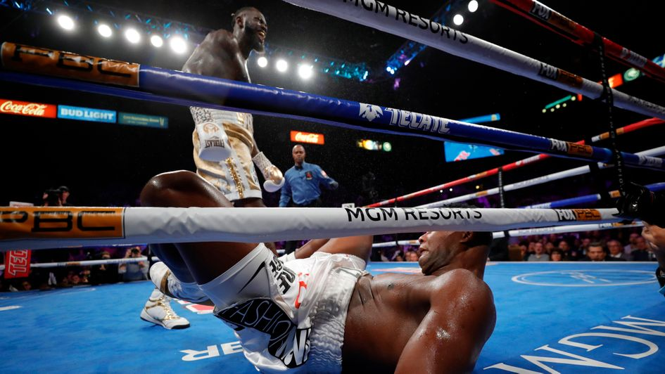 Deontay Wilder is all smiles after knocking out Luis Ortiz