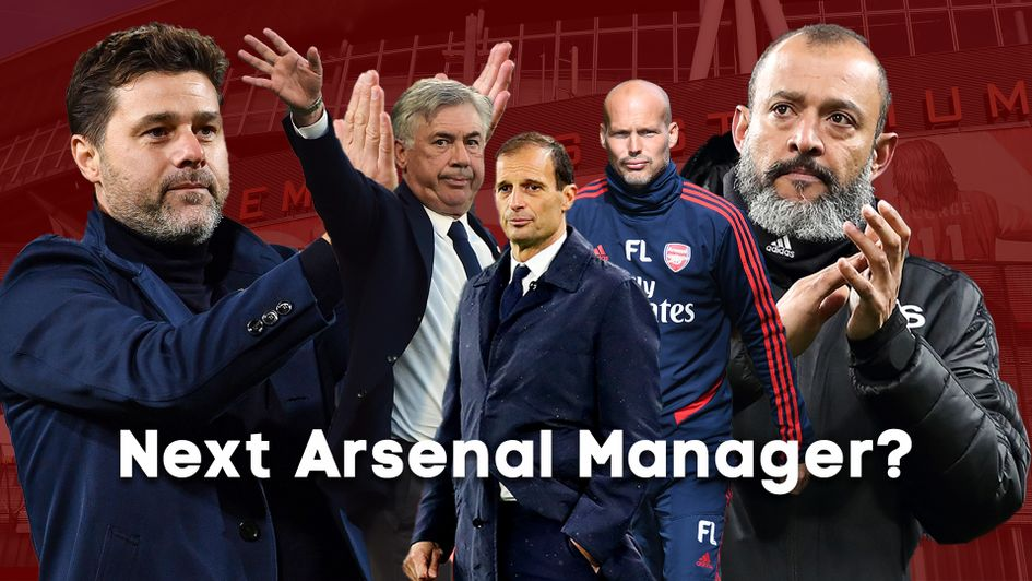 Arsenal are on the search for a new manager