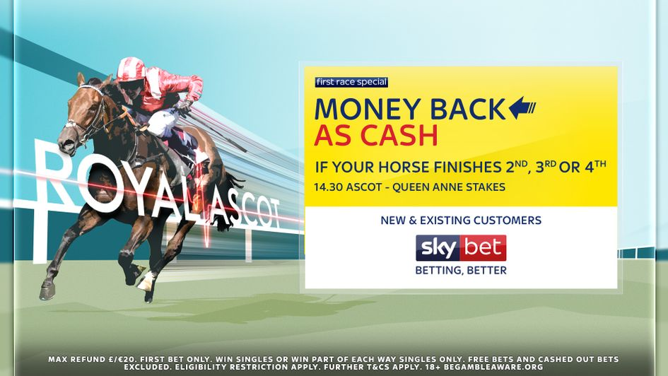 Money Back As Cash at Royal Ascot