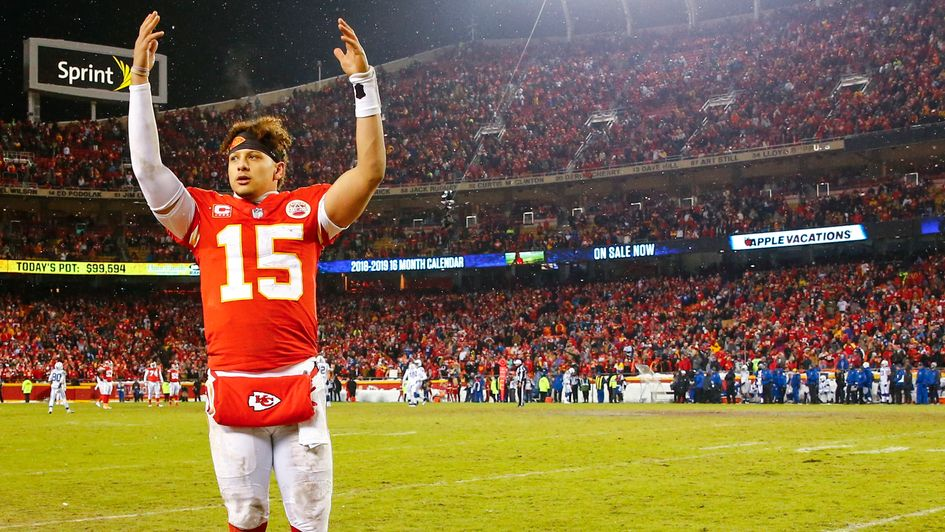Patrick Mahomes leads the Chiefs' celebrations