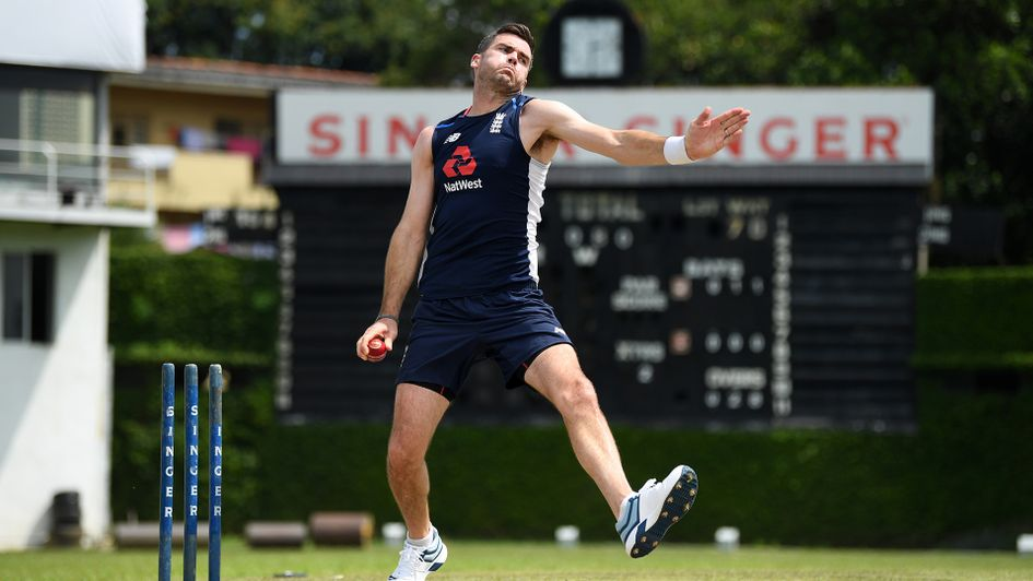 James Anderson going through his paces in practice