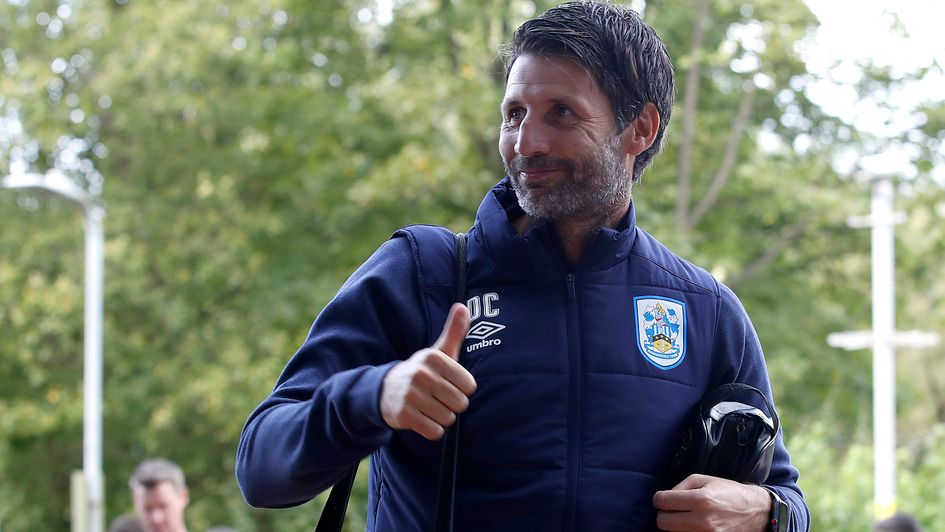 Danny Cowley arrives for his first game as Huddersfield boss