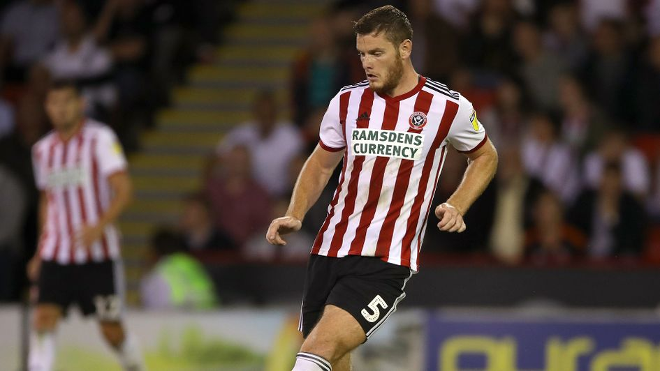 Jack O'Connell in action for Sheffield United