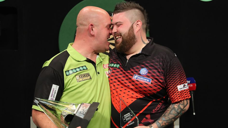 Michael van Gerwen beat Michael Smith in the final (Picture: Lawrence Lustig/PDC)