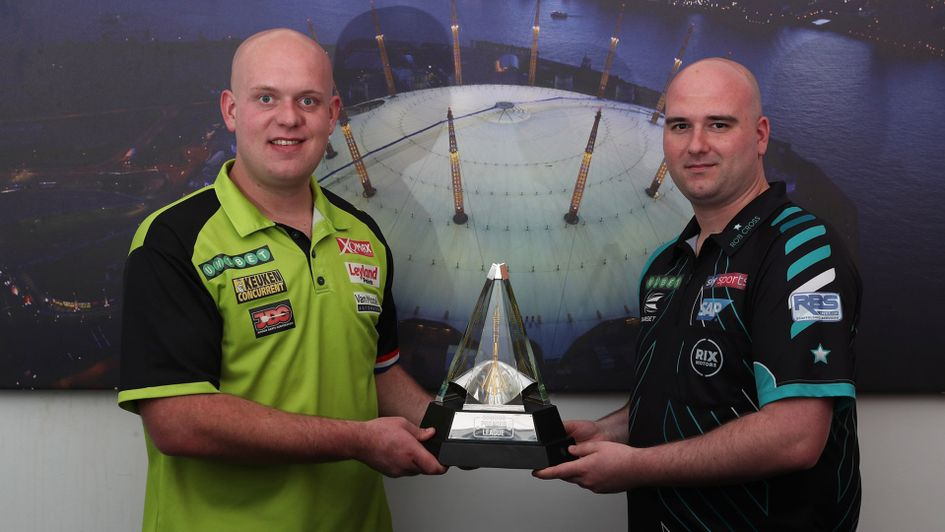 Michael van Gerwen meets Rob Cross in the first semi-final (Picture: Lawrence Lustig/PDC)