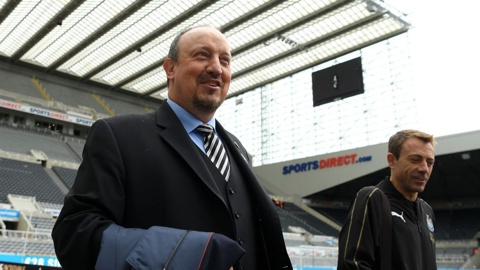 Rafa Benitez arrives at St James' Park ahead of Newcastle v Chelsea