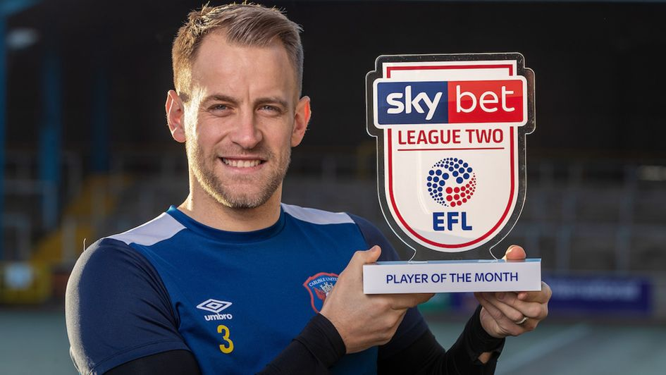 Danny Grainger won the Sky Bet League Two Player of the Month award