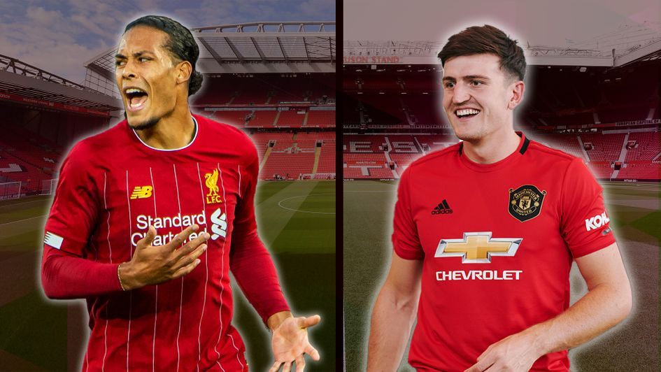 Manchester United's Harry Maguire and Liverpool's Virgil van Dijk are both big-money signings
