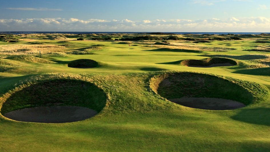The 14th hole at Carnoustie