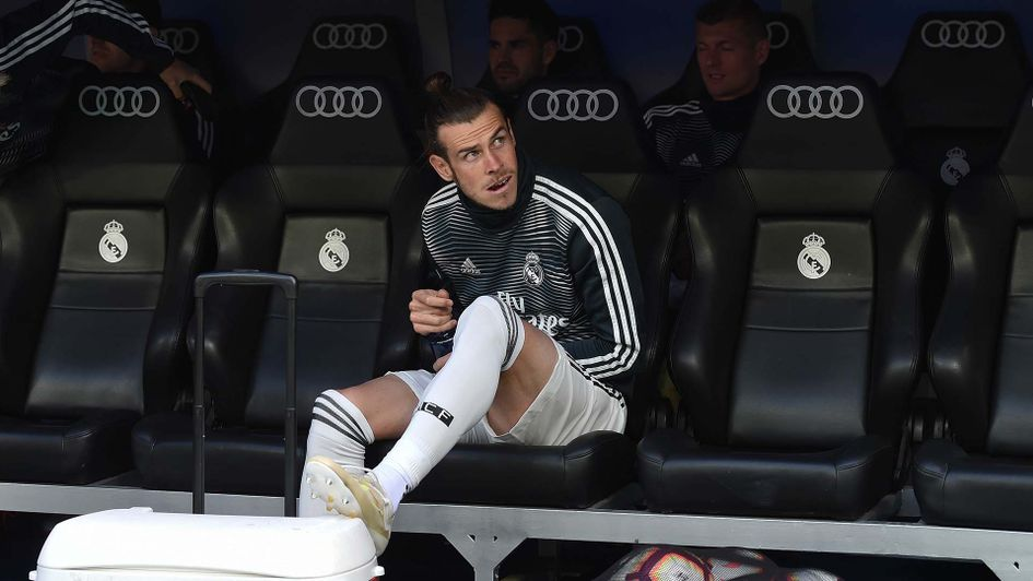 Gareth Bale on the bench at Real Madrid