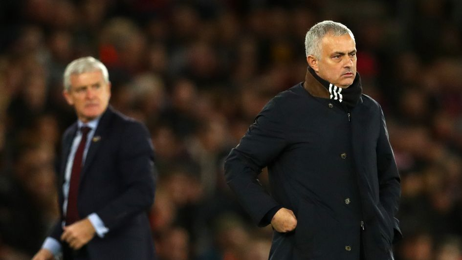 Jose Mourinho (right) wants more fight from United