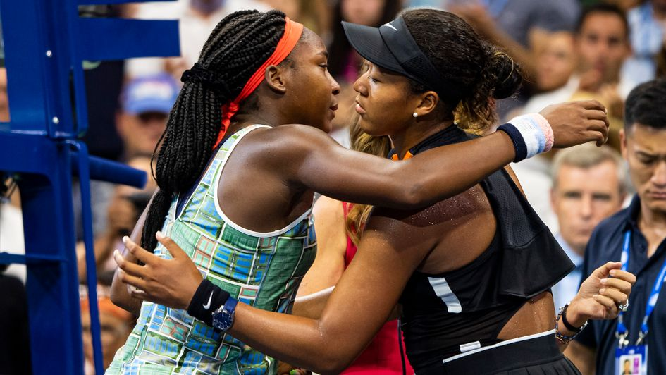 Coco Gauff (left) and Naomi Osaka