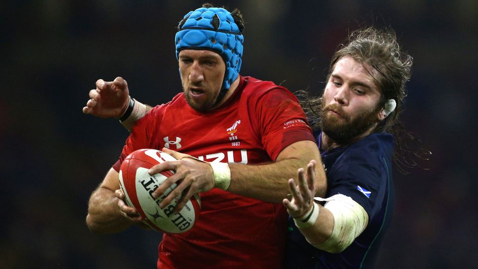 Justin Tipuric in action during Wales' victory over Scotland