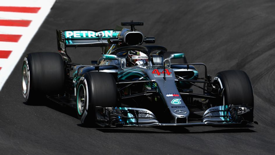 Lewis Hamilton was second quickest in the opening session