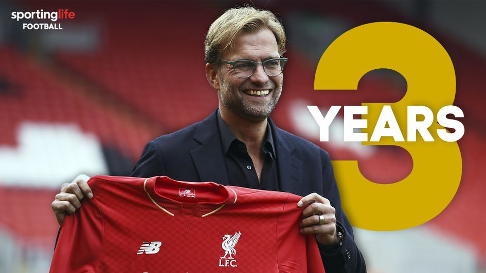 Jurgen Klopp celebrates three years in charge of Liverpool