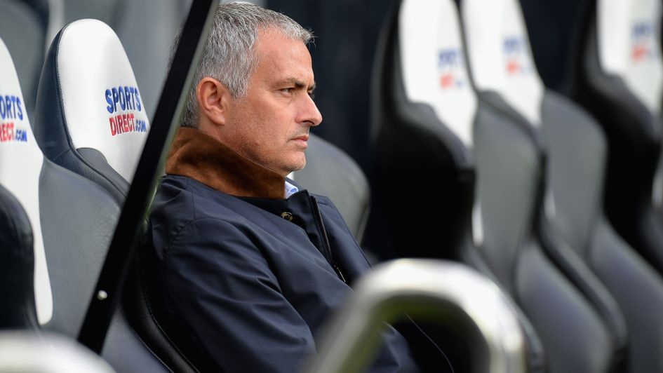 Jose Mourinho: Pictured in the Newcastle dugout in 2015