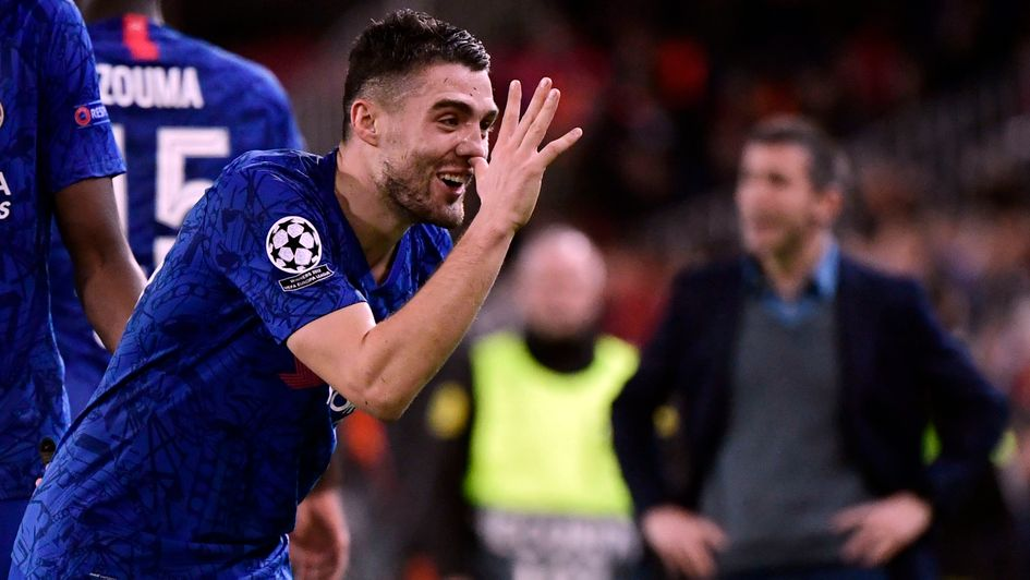 Mateo Kovacic: Chelsea midfielder celebrates his first goal for the club, against Valencia in the Champions League
