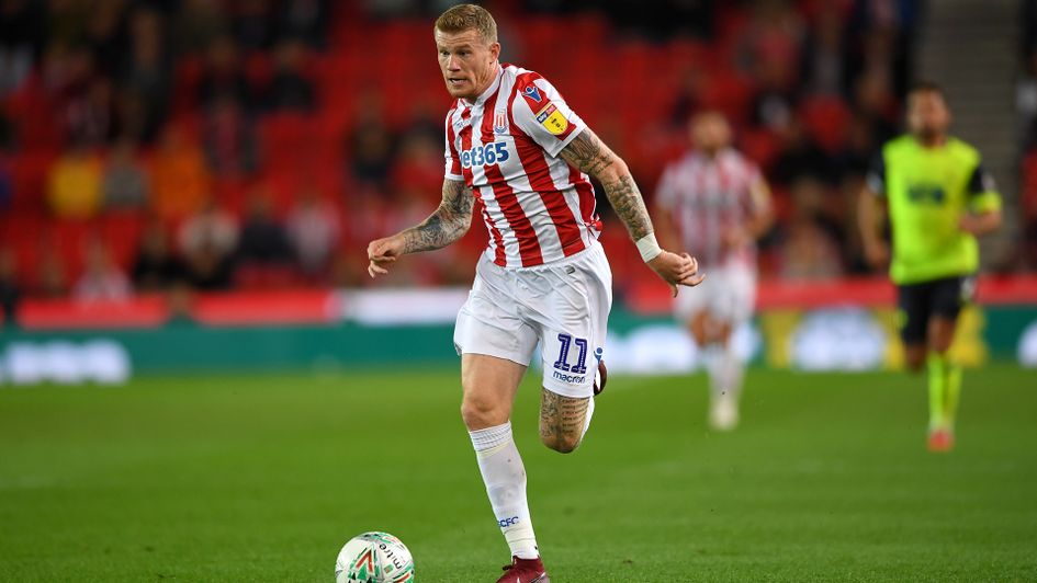 James McClean in action for Stoke