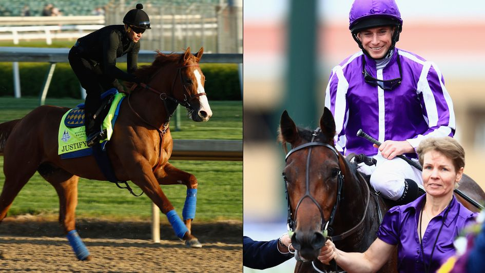 Favourite Justify (left) and Mendelssohn do battle on Saturday