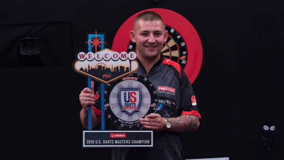 Nathan Aspinall wins the US Darts Masters (Picture: Lucas Peltier/PDC)