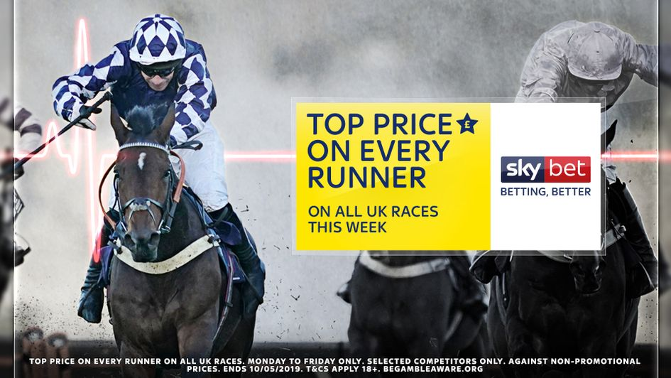 Sky Bet have the top price on every runner