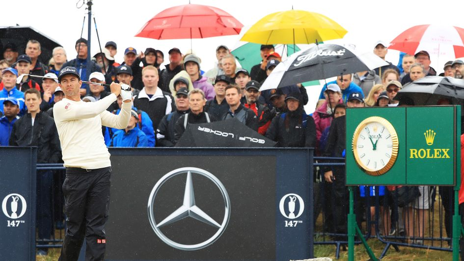 Adam Scott defies the weather at Carnoustie