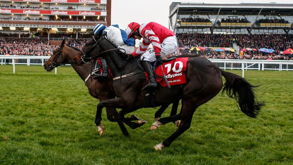 Total Recall (nearside) got the better of Whisper at Newbury