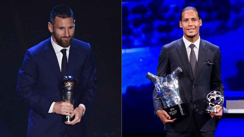 Lionel Messi won the FIFA gong after Virgil van Dijk had won the top UEFA prize last month