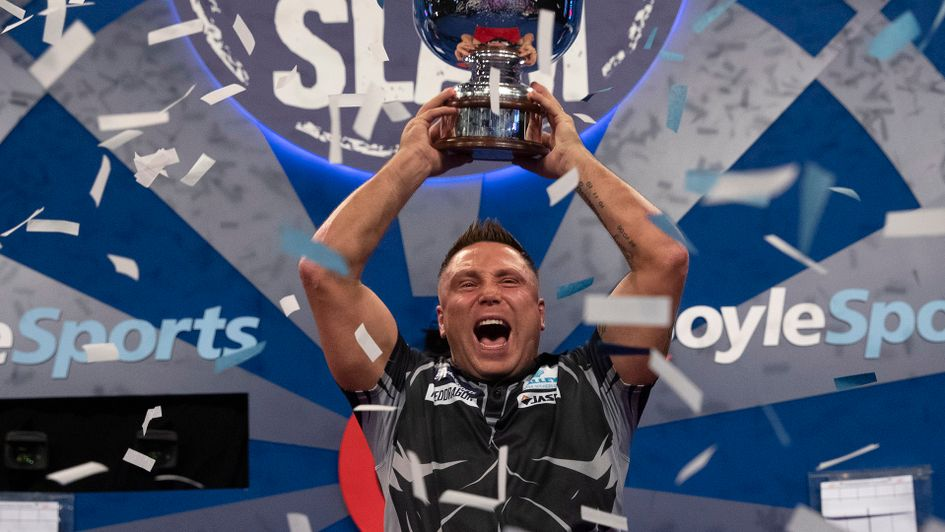 Gerwyn Price retained his Grand Slam of Darts title (Picture: Lawrence Lustig/PDC)