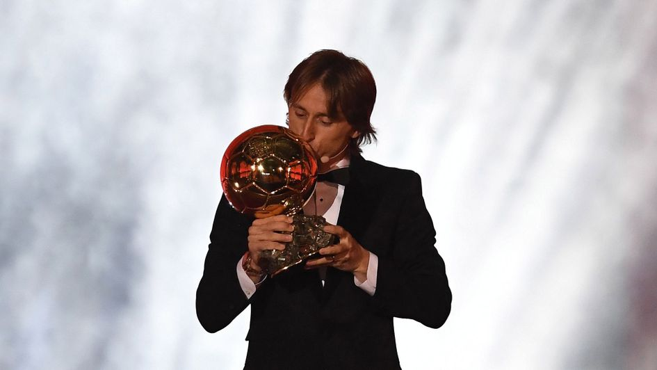 Luka Modric with the Ballon d'Or