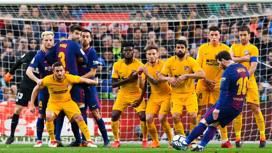 Lionel Messi scores another free-kick for Barcelona